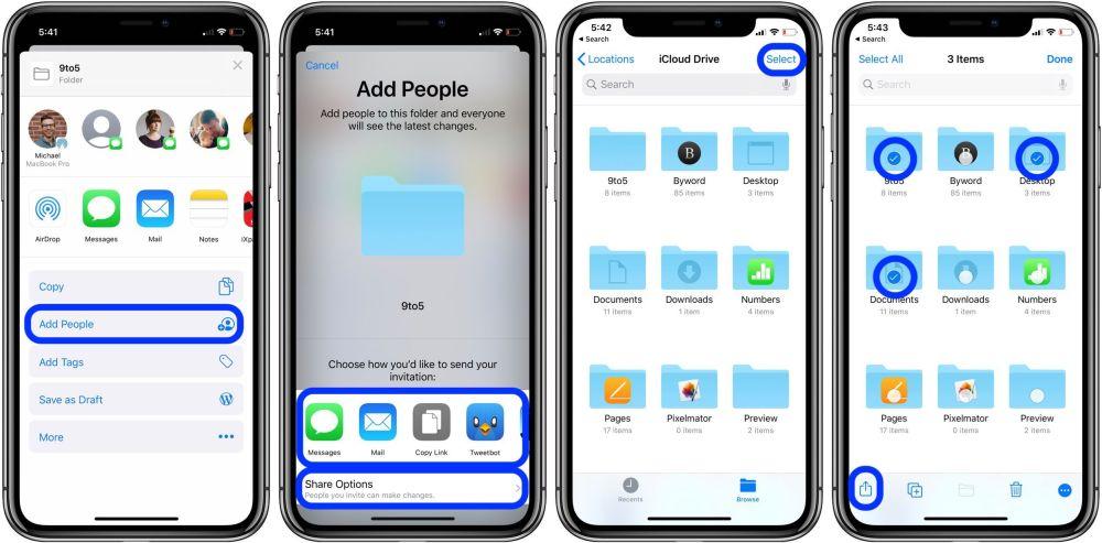 как открыть общий доступ к папкам iCloud Drive для iPhone iPad 2
