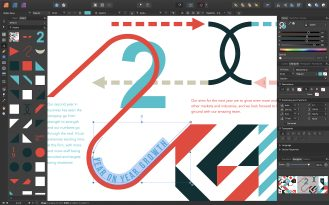 macOS - Affinity Publisher - Text on a path