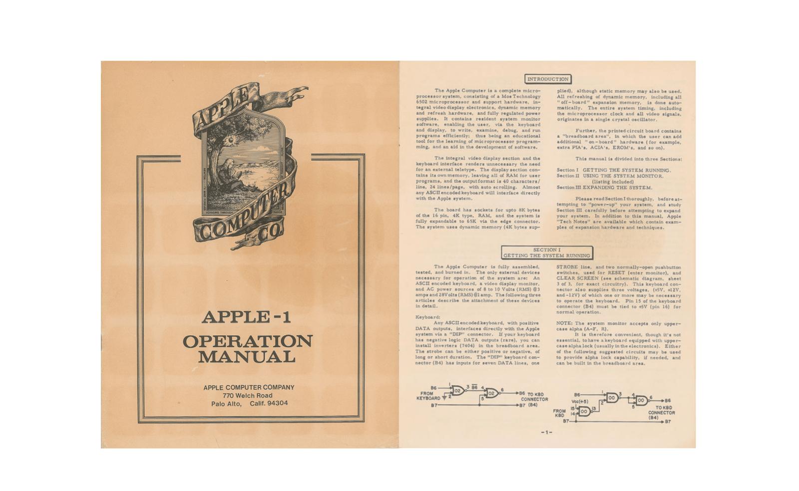 Rare Apple 1 Original Manual Up For Auction 9to5mac