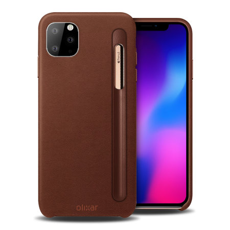 iPhone 11 Pro Apple Pencil case brown