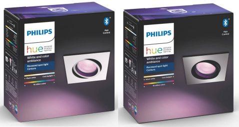 Philips-Hue-White-and-Color-Centura-Einbautspot-Eckig-Vergleich-Verpackung