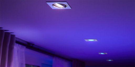 Philips-Hue-White-and-Color-Centura-Einbautspot-Eckig-in-der-Decke-Blau