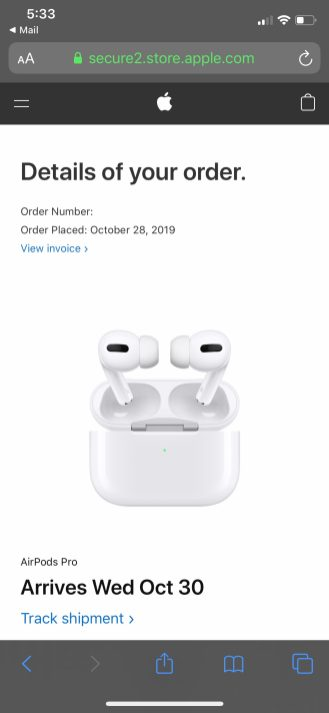 AirPods Pro delivery times improve for some customers