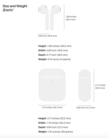 airpods-size-weight-compare
