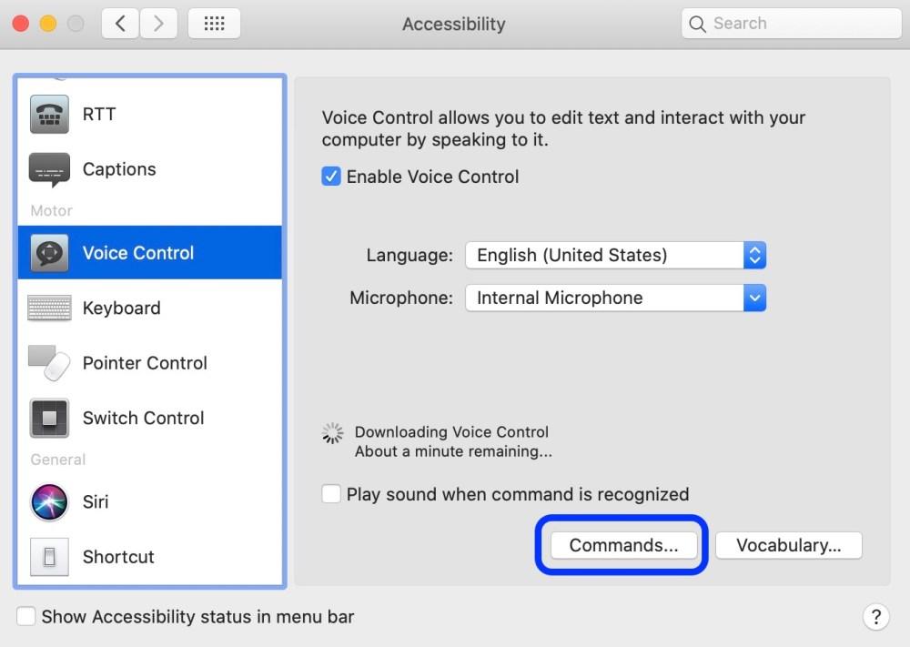 Как начать использовать голосовое управление Mac macOS Catalina Пошаговое руководство 3