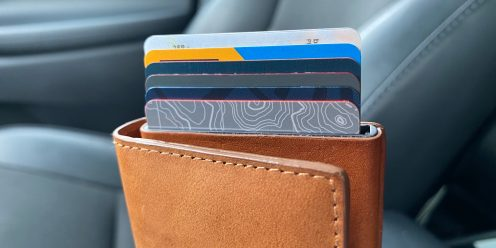 Ekster smart Siri wallet review cards up close