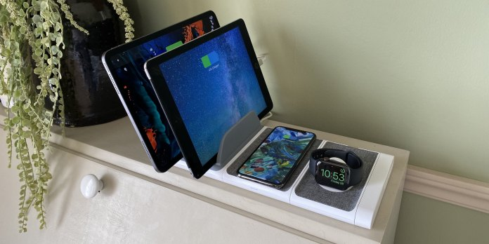 Modular Apple device wireless wired charger Scosche review 1
