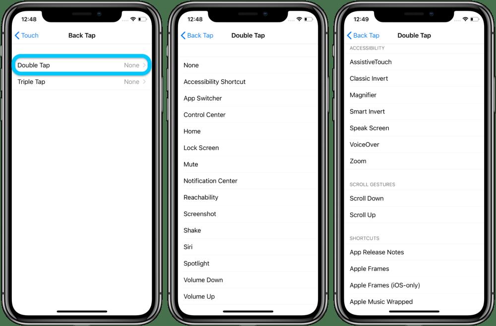 Как использовать iPhone Назад Нажмите пользовательские элементы управления пошаговое руководство 2