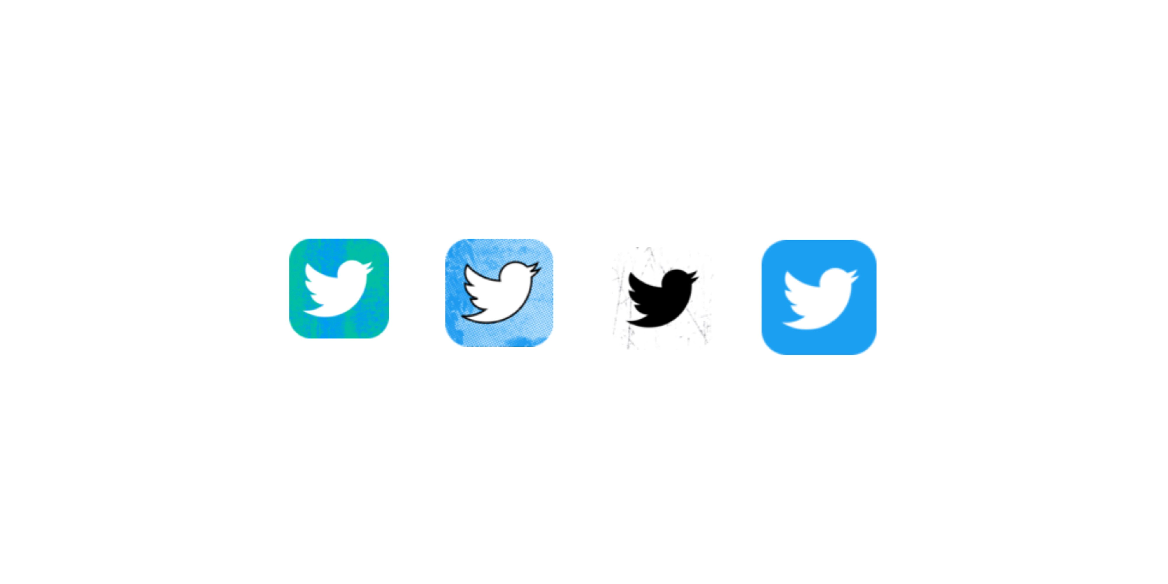 image of four different twitter app icons
