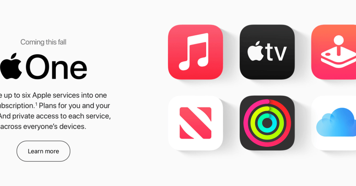 Apple One services bundle available tomorrow: save money on Apple Music, iCloud and more - 9to5Mac