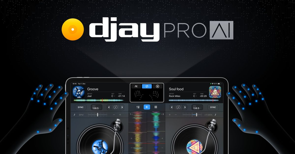 djay Pro for iPad updated with new hand gestures tracking system - 9to5Mac