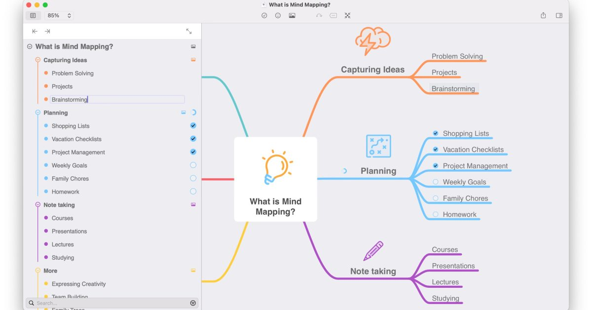 MindNode for Mac gains new outline features to better organize and edit your visual brainstorms