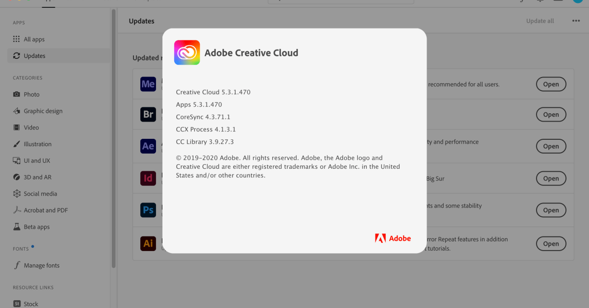 photo of Adobe releases CPU usage bug fix for Creative Cloud users on macOS Big Sur image