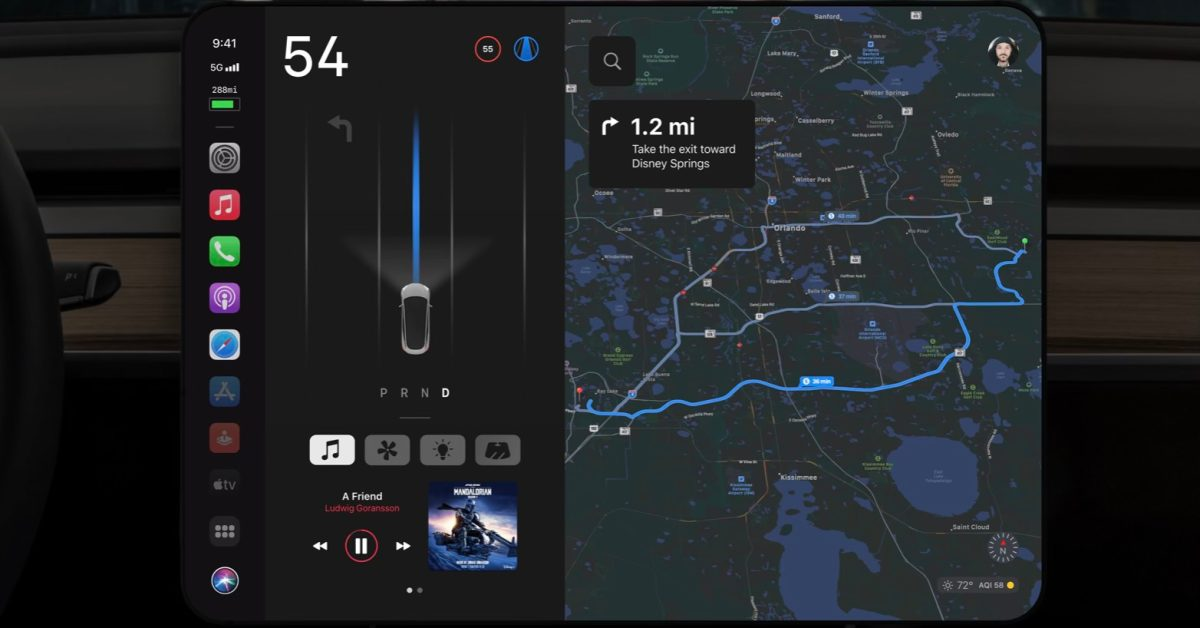 Concept imagines what CarPlay would look like 'if Apple made the Tesla Model 3'