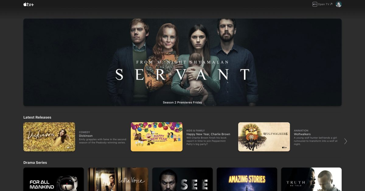 Apple TV+ website gets first UI update since the streaming service launched