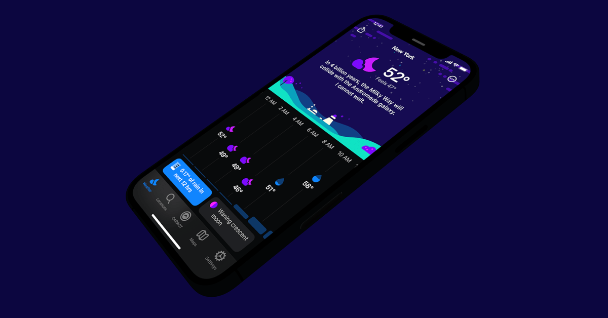 photo of Carrot Weather adds Smart Layouts, ability to film your own ridiculous weather reports, more image