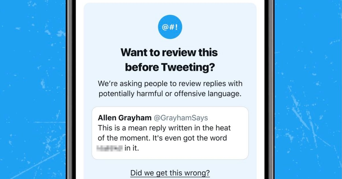 photo of Twitter relaunches 'review before you tweet' prompt on iOS to discourage offensive replies image