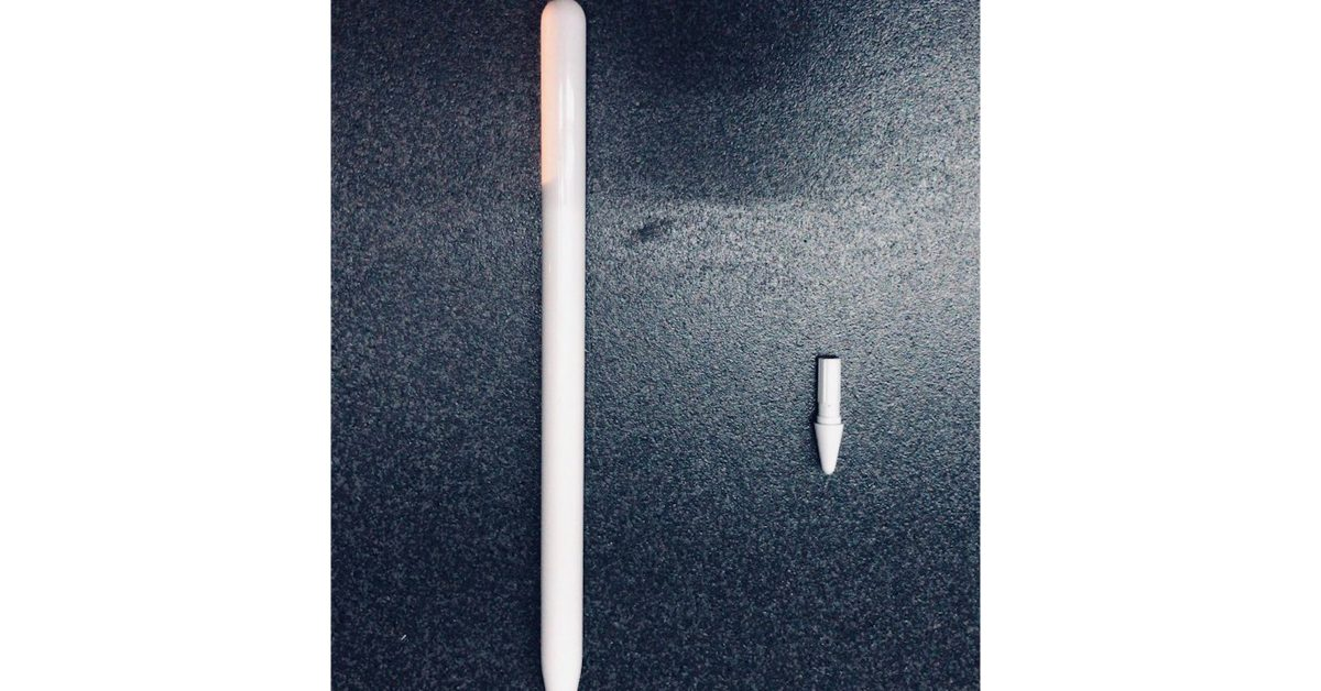 Leaked image allegedly shows new Apple Pencil with glossy design - 9to5Mac