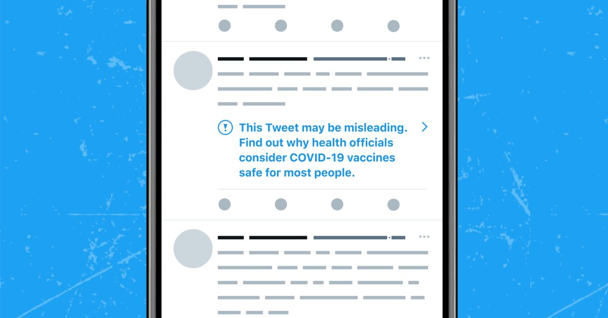 Twitter now labeling tweets with misinformation about COVID-19 vaccines with new strike system - 9to5Mac