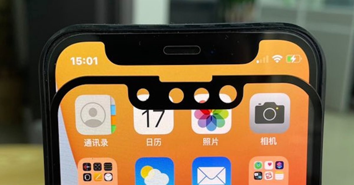 photo of New photos claim to show smaller iPhone 13 notch compared to iPhone 12 image