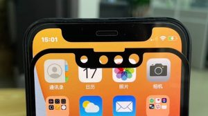 The new photos claim to show a smaller iPhone 13 notch compared to the iPhone 12