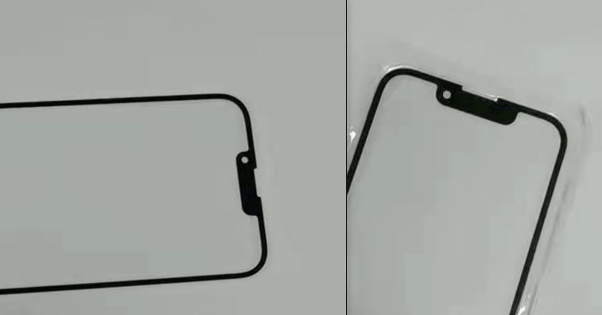 photo of Photo shows iPhone 13 and iPhone 13 mini notch, about ~30% smaller in width image