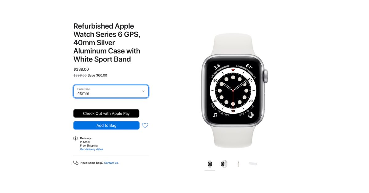 Apple starts selling refurbished Apple Watch Series 6 and SE - 9to5Mac