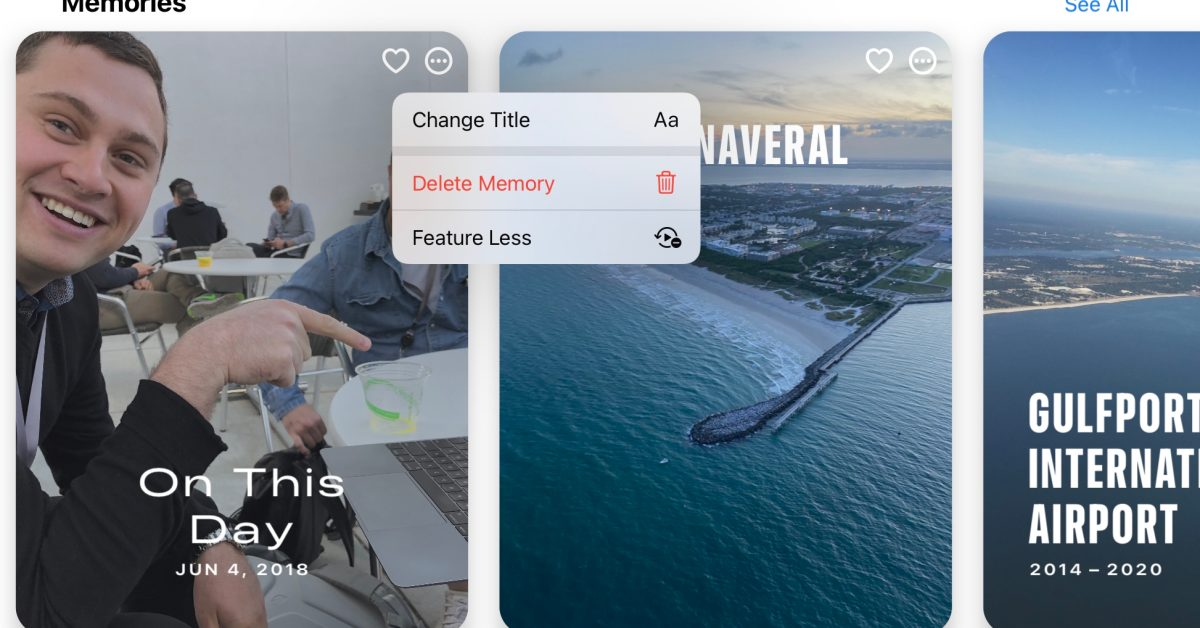 iOS 15: Photos now lets you mark people, places, and dates to suggest less often as featured images