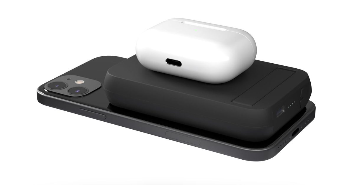MagSafe powerbank for iPhone 12 with AirPods charging too - 9to5Mac