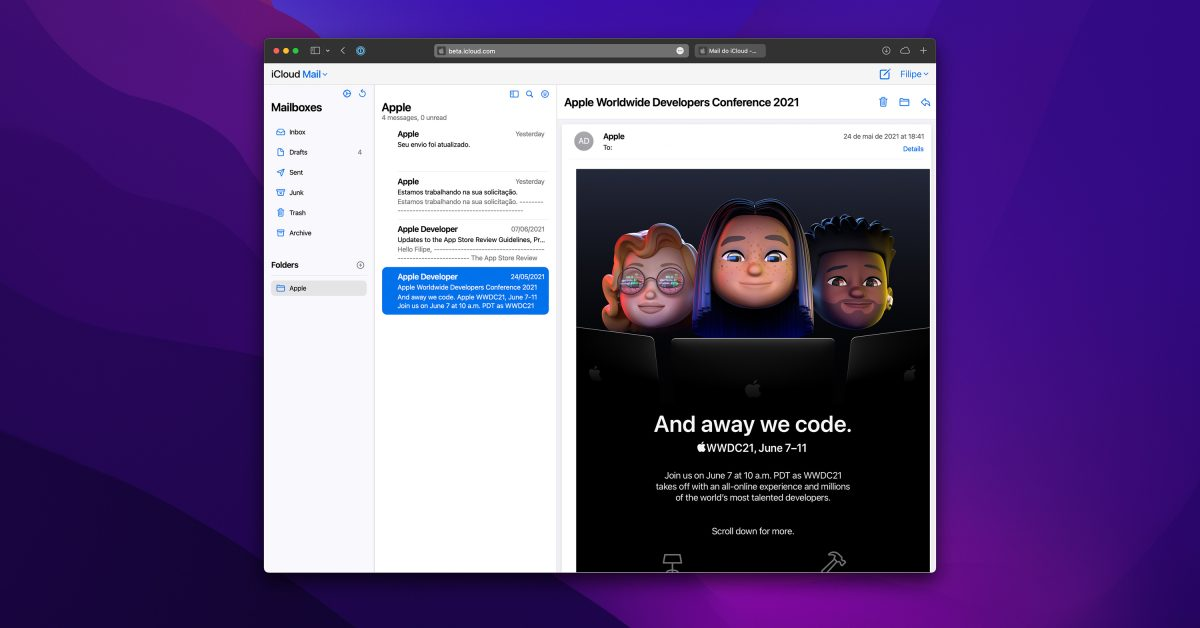 photo of Redesigned iCloud Mail web app now available for everyone image