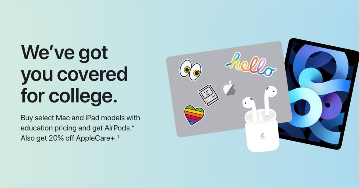 Apple launches Back to School student offer: free AirPods with iPad and Mac purchases - 9to5Mac