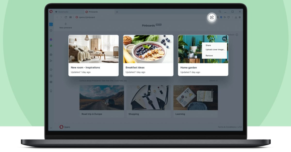 Opera launches R5 browser update for Mac with shareable Pinboards, floating video calls, more - 9to5Mac