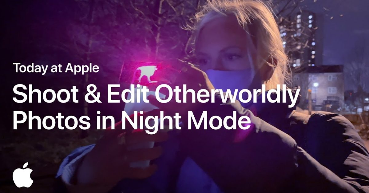 photo of New 'Today at Apple' video shows how to take and edit great photos in Night Mode with iPhone image