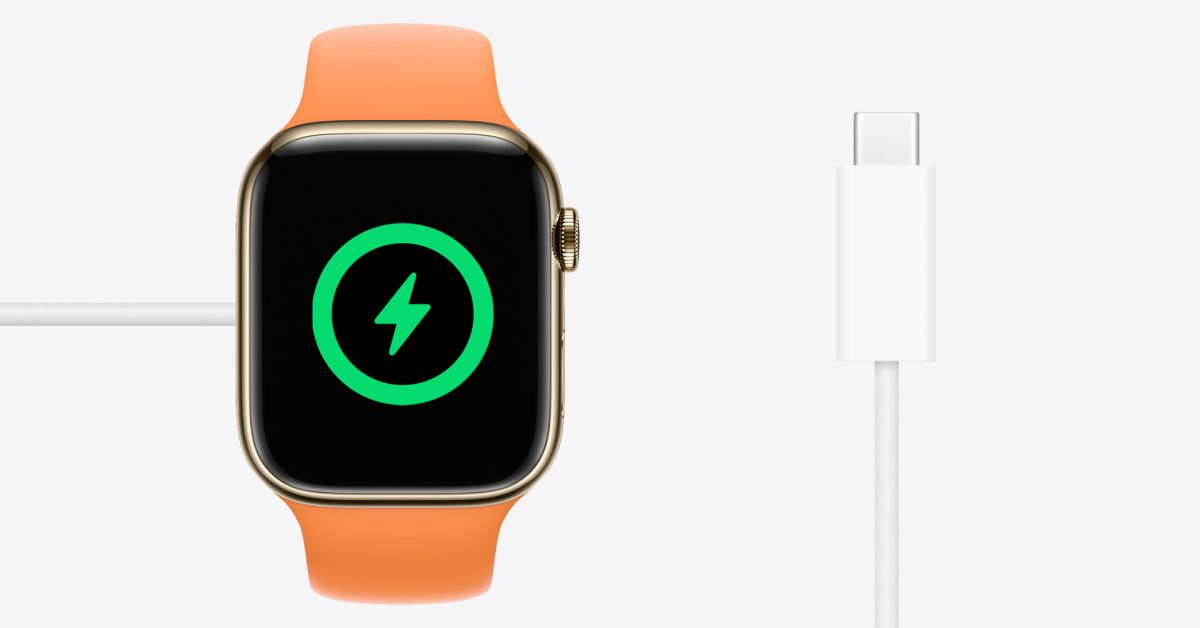 photo of Apple Watch Series 7 and SE now come with USB-C cable; fast charging may not work with MagSafe Duo image