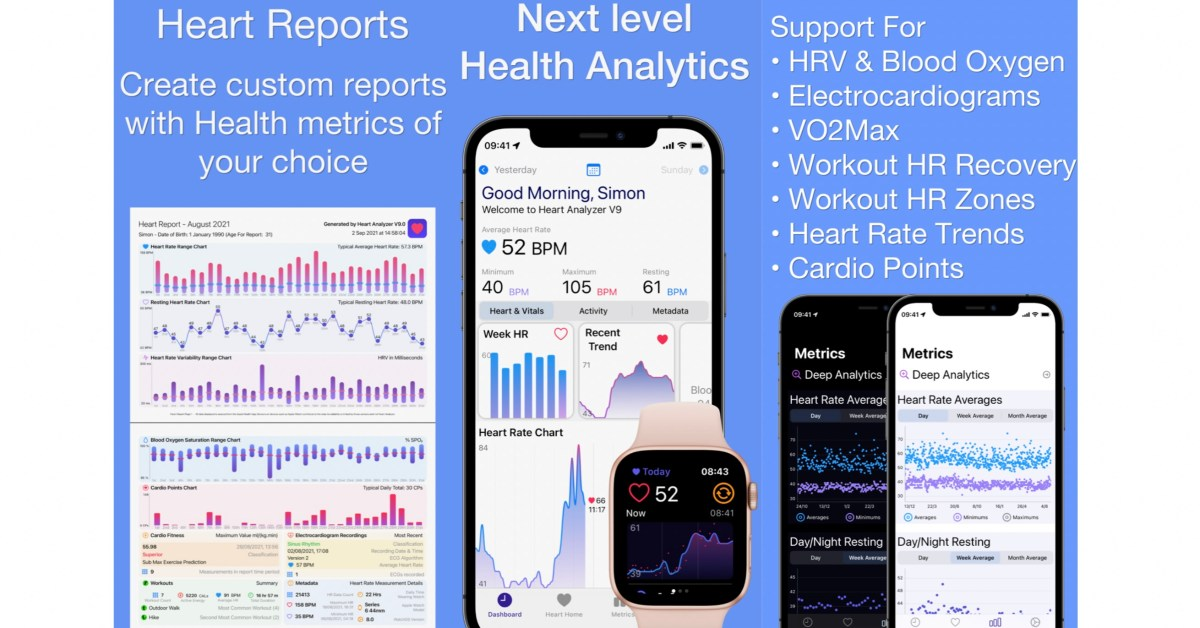 Heart Analyzer for iPhone and Apple Watch updated with new Heart Reports, respiratory rate support, more thumbnail