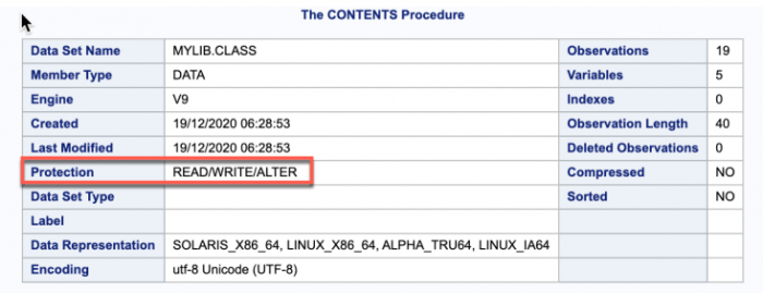 How to Password protect SAS datasets ? 2