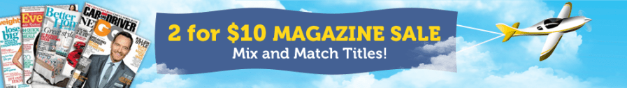 DiscountMags-2for10-sale