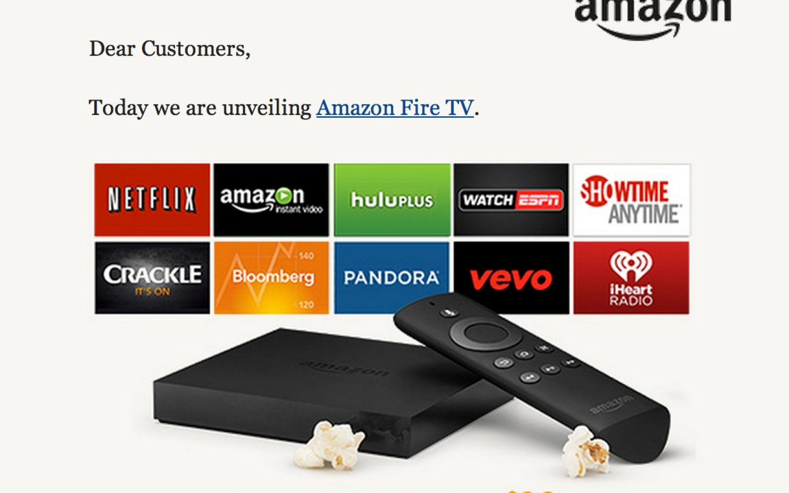 Amazon Officially Releases Amazon FireTV Today for $99 - 9to5Toys