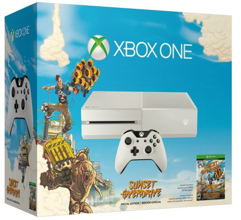white Xbox One with Sunset Overdrive-sale-01