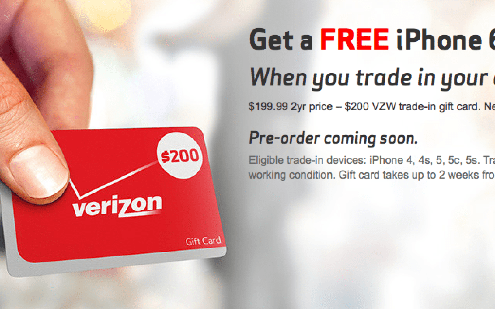 Upgrade your iPhone 4 (or newer) to a Verizon iPhone 6 for free w/ 2-yr contract (updated)