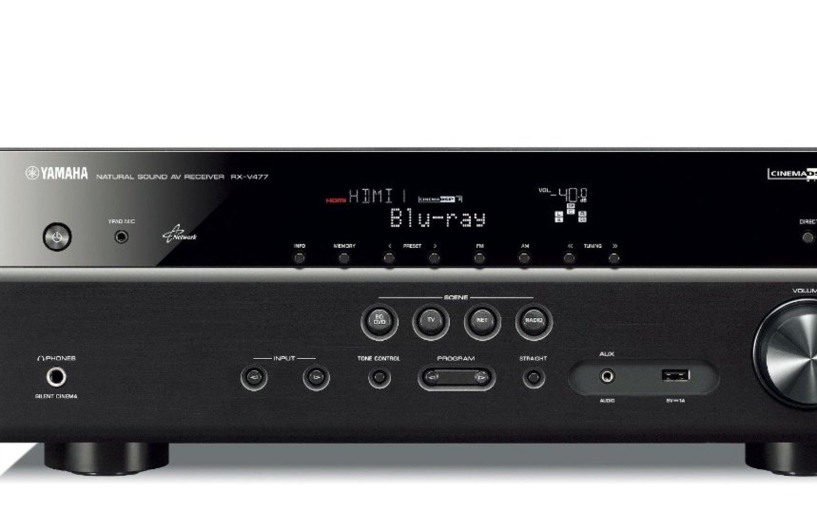 A/V Receivers: Yamaha (RX-V477) w/ Airplay $300 (orig. $450), Yamaha (R-S201BL) Natural Sound $130 (orig. $180), more