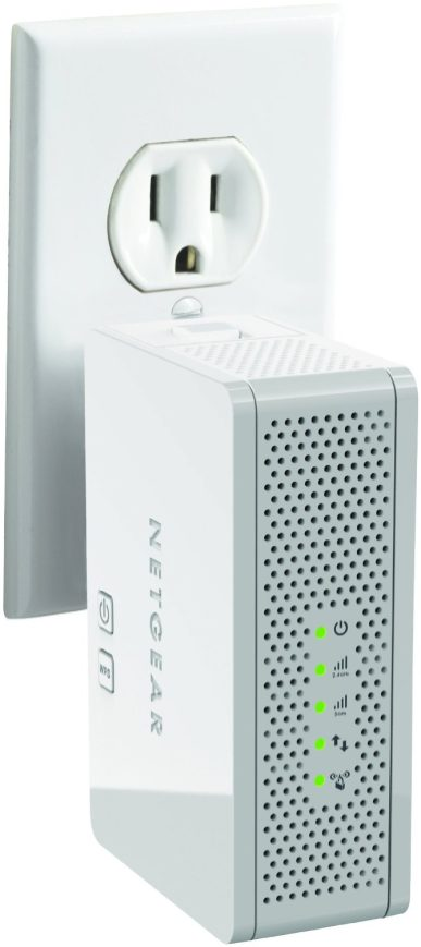NETGEAR N600 Dual Band WiFi Range Extender - Wall-plug:Desktop with Airplay (WN3500RP-sale-01