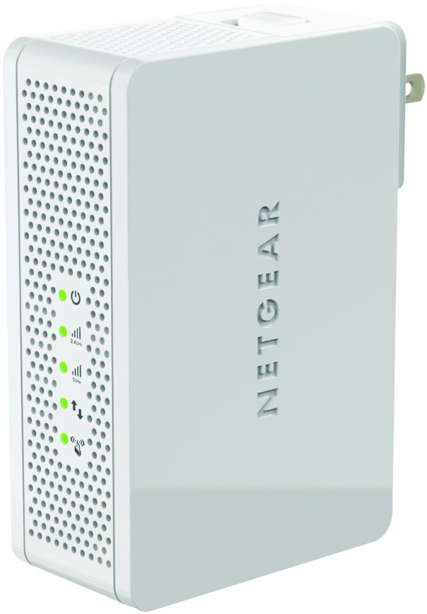 NETGEAR N600 Dual Band WiFi Range Extender - Wall-plug:Desktop with Airplay (WN3500RP-sale-02