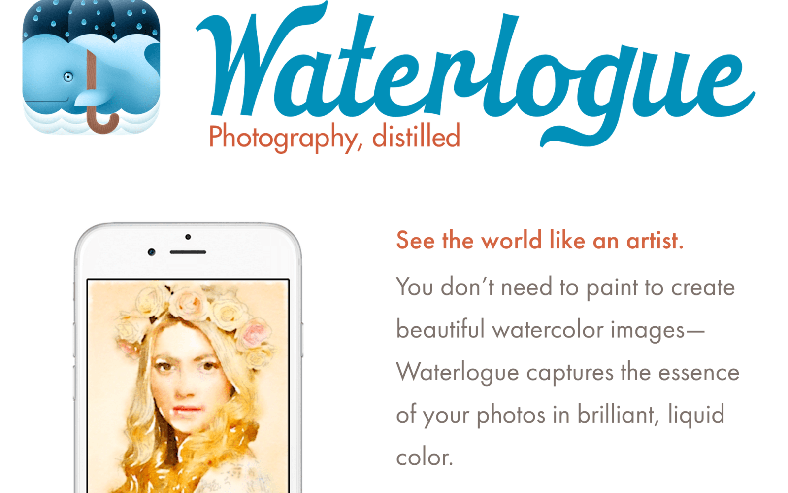 The Apple featured Waterlogue auto water painter is now available for free inside the Apple Store app (Reg. $2.99)