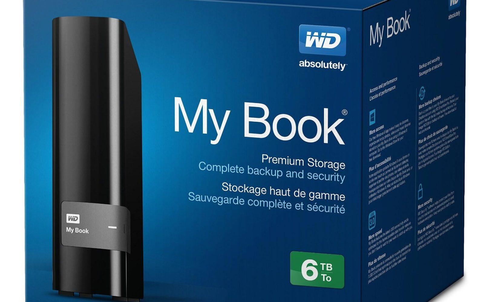 WD My Book 6TB USB 3 0 Desktop External Hard Drive $200