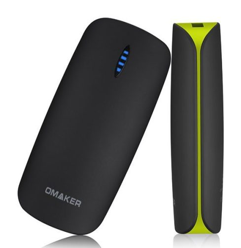 Omaker 5200mAh Ultra Portable Rubberized Battery Charger with Flashlight