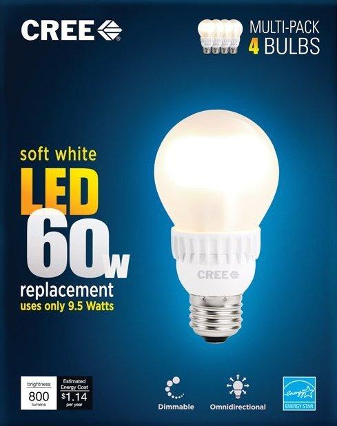 Cree 60W Equivalent Soft White (2700K) A19 LED Light Bulb-sale-01