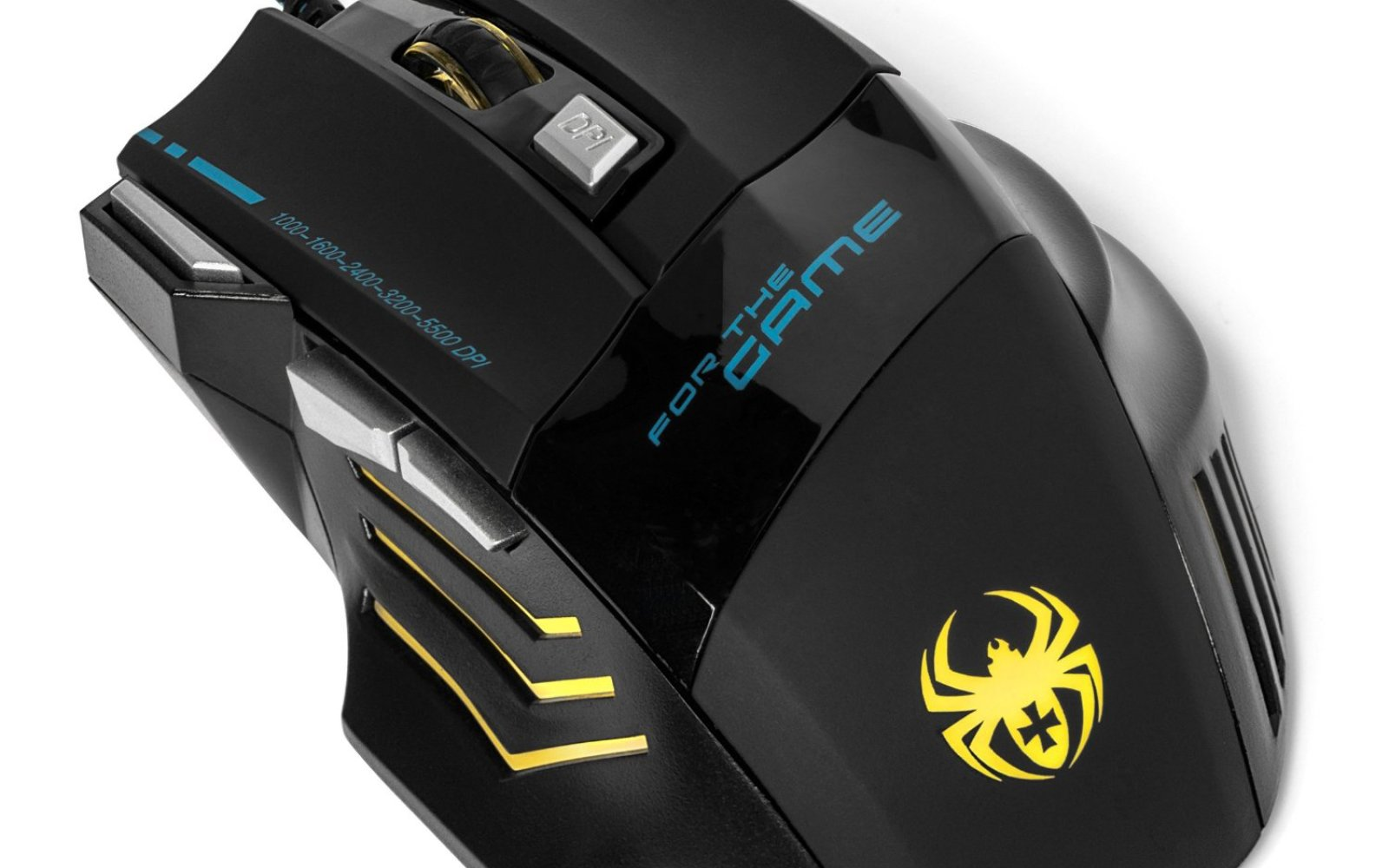 Kingtop 5500 DPI Optical Gaming Mouse w/7 Button Side Control, 5 Respiring LEDs: $9 Prime shipped