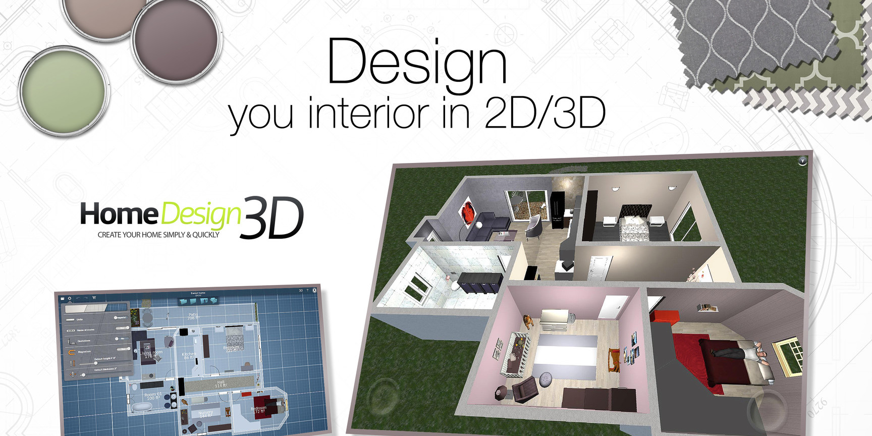 Home Designer 3D For IOS/Mac Goes Free For The First Time, GOLD Version $1  (Reg. Up To $10)