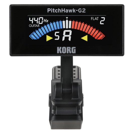 Korg PitchHawk G2 Clip-On Tuner for Guitar:Bass-sale-01